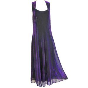 Molly Malloy Evening Gown Vintage Purple Sparkly